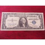 Billete One 1 Dollar Certificado De Plata Con Estrella 1957