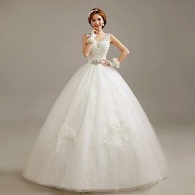 Vestido De Noiva Princesa Bordado Pronta Entrega