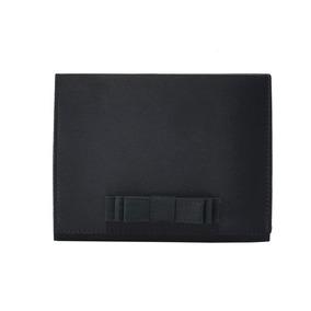 Bolsa De Festa Preta Clutch De Mão Pequena Laço Chanel Alça
