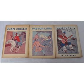 Lote X 3 Libros Gauchos Eduardo Gutierrez C 1930 Santos Vega