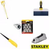 Kit Gesso Drywall 5 Acessórios C/ Ponteiras Pontas Stanley