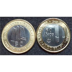 Moedas 1 Real Comemorativas Aos 50 E 40 Anos Banco Central