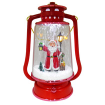 Lampiao Papai Noel Efeito Neve Led Enfeite Natal Musical