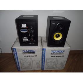 Par Caixa Studio Profissional Amplificada 600wts Monitor