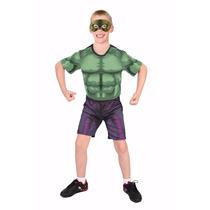 Fantasia Hulk Vingadores Curta Meia Máscara Original M