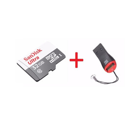 6cartão Micro Sd Ultra 32gb Classe 10 48mb+leitor Usb Gratis