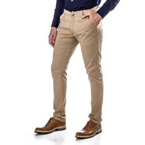 Pantalón Chino Chupin Semi Elastizado - Beige - El Capo