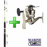 Kit Molinete Marine Sports Elite 5000 + Vara 1,80m 50lb