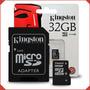Tarjeta Micro Sd De Memoria 32gb Kingston O Sandisk Clase 10