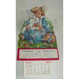 Almanaque Publicitario De Cartón Tienda La Perla - 1974