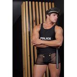 Fantasia Masculina Sexy Policial Americano + Algema
