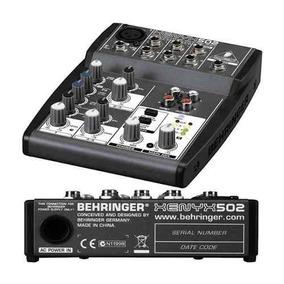 Mesa Som Behringer Xenyx 502 Mixer Com Phanton Power