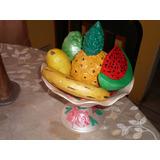 Frutero Para Centro De Mesa De Comedor En Ceramica