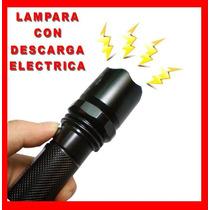 Lampara Tactica Led Con Descarga Electroshock Toques