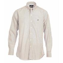 Camisa Brooksfield Hombre Algodón Rayada Elegante B03244z
