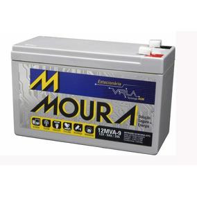 Bateria Moura 12v 9ah Alarme Cerca Eletrica Nobreak 0087