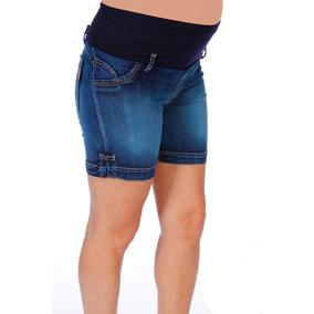 Short De Jean Para Embarazada Con Faja (ropa Futura Mamá)