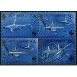 Fauna - Wwf - Tiburones - Montserrat - Serie Mint (mnh)