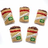 Kit 5 Imãs Geladeira Café Brasil Lindo Souvenir Artesanato