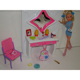 Penteadeira Barbie Quarto Espelho Maquiagem Cadeira Comoda
