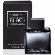 Perfume Antonio Banderas Seduction In Black For Men 100ml Ed