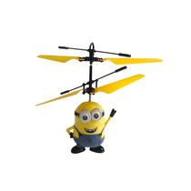 Boneco Minion Voador Helicóptero Mini Drone Brinquedo