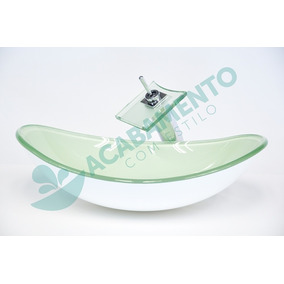 Kit Cuba Vidro Banheiro Oval Branca + Válvula Click