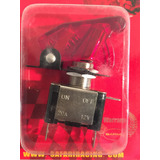 Interruptor Llave Switch C/ Led Luces Tuning Tapa Roja