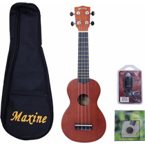 Ukulele Maxine Sapele C/capa+cordas+afinador+frete Grátis