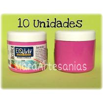10 Bases Acrilicas Eq Arte 200cc - Pintura Para Artesanias