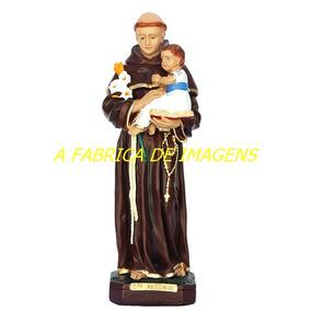 Escultura Santo Antonio Imagem 60cm Estatua Gesso Ceramico