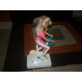 Muñeca Barbie Antigua En Biciclerta Estatica Funciona