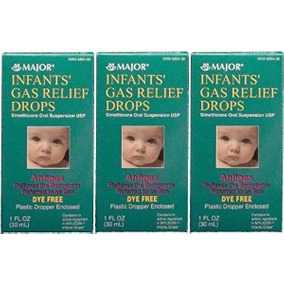 Los Bebés Gas Relief Simeticona 20 Mg / 0,3 Ml Gotas Tinte G