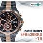 Reloj Casio Edifice Cronógrafo Efr-539bkg-1av - Original