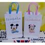 30 Sacolinhas Personalizadas Mickey Baby E Minnie Baby 15x10