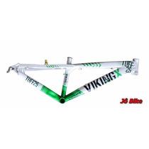 Quadro Aro 26 Vikingx Tuff Rebaixada Aluminio Tam.13 Jô Bike