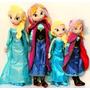 Elsa Frozen Muñeca De Tela 40 Cms