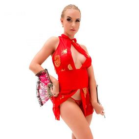 Fantasia Erótica Gueixa Quimono Sensual Sexy - Frete Gratis