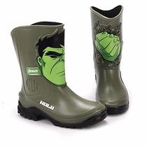 Bota Galocha Avengers Hulk Infantil Masculina Frete Grátis