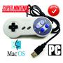 Mando Super Nintendo Snes Usb Para Pc O Mac + 1,000 Juegos