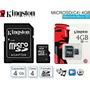 Tarjeta De Memoria Kingston Micro Sd 4gb + Adaptador Para Sd
