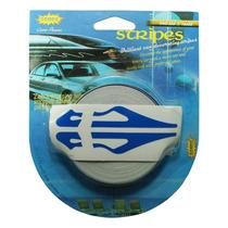 Rollo Franjas Deportivas Para Auto Azul Calcomania Sticker