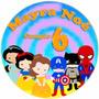 Candy Bar Superheroes Y Princesas Kit Imprimible Fiesta!