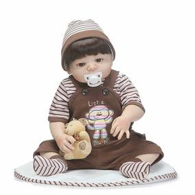 Bebê Reborn Barato Boneco Menino Moreno Silicone Fretegrátis
