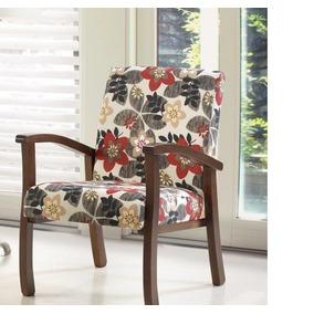 Poltrona Cadeira Decorativa Salvador Pés Em Madeira