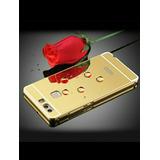Case Funda Aluminio Espejo Huawei P8 Gold Y Pink