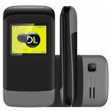 Celular Dl Yc230 Flip Dual Chip Preto/cinza Câmera Digital