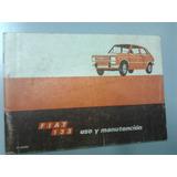 Libro Manual De Usuario 100% Original: Fiat 133 1977 Al 81