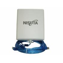 Antena Wifi Exterior 5km Nisuta Wiucpe310 Nueva Version