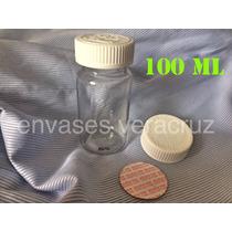 Envase Transparente C/tapa Y Sello De Seg. 100 Ml Paq.de 25
